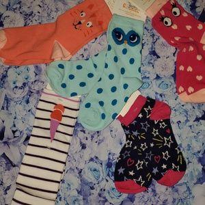 nwt 5 pairs gymboree socks girls small